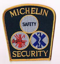 TRES RARE ECUSSON MICHELIN BIBENDUM A BRODER PROVENANCE USA : MICHELIN SECURITY