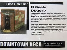 DOWNTOWN DECO N SCALE KIT FIRST TIMER'S BAR