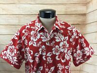 Rainbow Hawaii Inc. Shirt SS Floral Mens M Red Floral Made in Hawaii