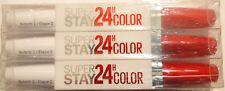 3x Maybelline Super Stay LIPSTICK 24HR Color 2 Step #560 RED ALERT
