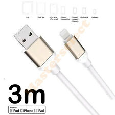 Largo cable 3m para iphone 5 / 6 / 7 Ipad mini cargador toma USB a ordenador