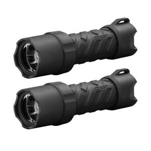 2 Pack LED Flashlight Polysteel 400 Heavy Duty 440 Lumens Waterproof Handheld