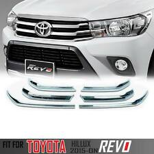Chrome Line Fender Grille Bonnet Cover For Toyota Hilux Revo 2015-2018 M70 M80