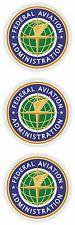 3x Federal Aviation Administration SIGILLI adesivi A.F. ci Porta Armadietto LIBRO AUTO