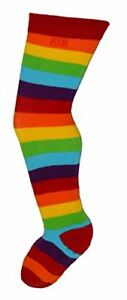 Rock-a-Thigh Baby Little Girls Thigh High Socks Sizes 1-7 Years ~ Rainbow