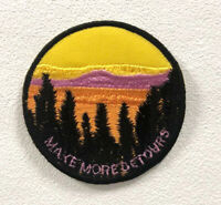 Make More detours Art Badge Clothes Iron on Sew on Embroidered Patch appliqué