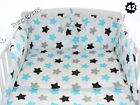 Baby Cot Bed Bear White + Drawer + Barrier + 6-Pcs Bedding 45 Colours + Mattress