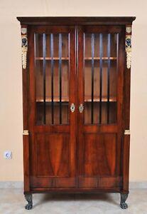Empire Display Cabinet, Bookcase, c. 1800, Restored
