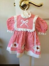 Very Very Cute Red and White Doll Dress