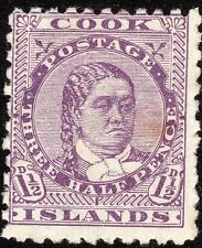Cook Islands 1896 deep-lilac 1.5d perf 11 mint SG14