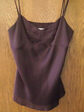 Women's Ann Taylor Loft Purple Satin Like Casual Tank Top Shirt Blouse 6