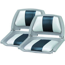 New Set of 2, Molded Fold Down Boat Seats/Fishing Seats, Grey/Charcoal