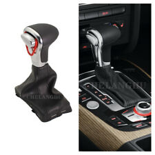 Automatic Gear Shift Stick Knob With Leather Boot For Audi A6 S6 C6 C7 2008-2018