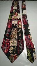 Nicole Miller Men's Vintage Silk Tie Designed to Celebrate Rosemount Estate 1995