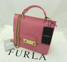 New Authentic Furla Julia Mini Top Leather Crossbody Passion Fruit Pink