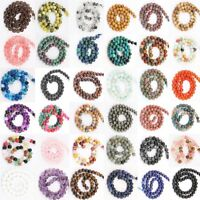 """15"""" Natural Gemstone Round Spacer Loose Beads 4mm 6mm 8mm 10mm 12mm  Lots Stones"""