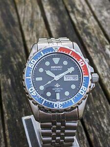 Seiko 5M43-0A40 Kinetic Diver SKJ003 Pepsi - Excellent Original Condition