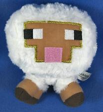 """Mindcraft Mojang Plush White Lamb Soft 6"""" Stuffed Sheep Animal Toy"""