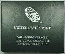 2019 US Mint 1oz Palladium Reverse Proof Coin In OGP W/ COA *Low Mintage*