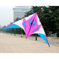 NEW 2.8m Power Triangle Delta Kite Resin Rod single line Outdoor Fun Sports Tool