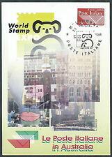 1999 ITALIA CARTOLINA SPECIALE MELBOURNE ESPOSIZIONE FILATELICA - ED