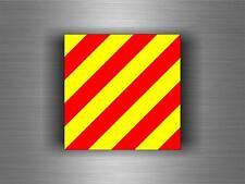 Sticker adesivi   codice internazionale nautica bandiera Y YANKEE segnalazione