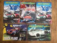 5 x Scalextric A4 colour catalogues 2009 2011 2012 & Track Plans Star Wars 007