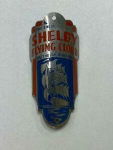 NOS antique Shelby FLYING CLOUD bicycle Head Badge emblem