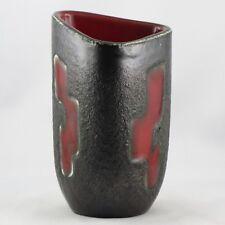 """Vase Céramique ELCHINGER """"Rouge & Noir"""" Vintage Design 50/60 chambost/capron..."""