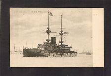 POSTCARD:  BRITISH ROYAL NAVY PRE-DREADNOUGHT BATTLESHIP HMS MAJESTIC - Unused
