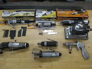 8 Air Tools New & Used Body Saw, Scraper, Die Grander, Multi function, Sander
