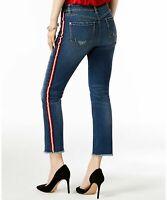 INC Blue Ankle Jeans Ripped Skinny-Leg - Indigo - 10 Petite