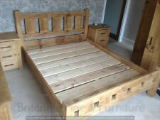 RECLAIMED KING SIZE BED HAND MADE RUSTIC BESPOKE SIZES COLOURS