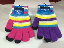 Polar Wear texting gloves 1 purple 1 pink with stripes