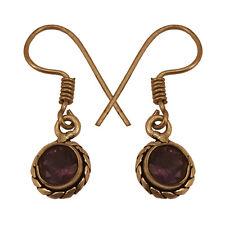 Amethyst Lightweight Purple Sterling Silver Earrings 925 Stud Natural Gemstone