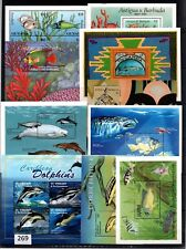 # WHOLESALE - MNH - 10 S/S - FISH - DOLPHINS