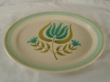"Franciscan China * TULIP TIME * Blue Flower * 11"" Oval Serving Platter * 1963-73"