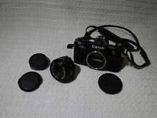 Canon AE-1 Black 35mm Film SLR Camera Body & FD 50mm 1:1.8 Lens