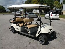 NICE 2011 EZGO PDS 48v ELECTRIC 6 passenger seat limo golf cart white ALLOYS