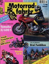 Motorradfahrer 1/98 1998 Yamaha YZF-R1 BMW R850R KTM 125 Sting Sachs ZZ Voxan
