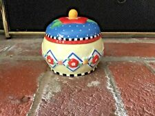 Mary Engelbreit Lidded Bowl Sugar Trinket Jar Blossoms Me Ink 2001 Michel & Co