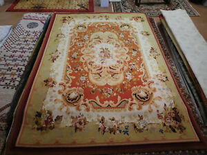 9x12 Stunning French Aubusson design Oriental Area Rug Floral wool flat weave