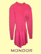 Mondor® #4552 Size Adult Large Pink Outdoors/Cold Rink Rib Knit Skating Dress