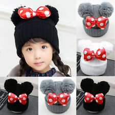 Infant Cute Baby Kids Toddler Cotton Blend Bow-knot Cap Winter Warm Hat Boy Girl