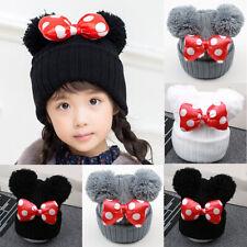 Infant Cute Baby Kids Toddler Cotton Blend Bow-knot Cap Winter Warm Hat Boy Girl