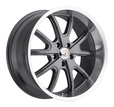 "18"" Vision 143 Torque Charcoal Machined Classic Wheel 18x9.5 5x4.5 0mm Vintage"