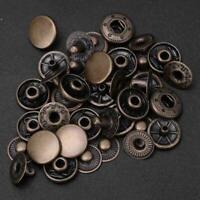 50pcs Metal Snap Fasteners Kit Press Studs Buttons Tool Women Men Craft Leather