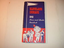 1948 Cleveland Indians Press Radio TV Yearbook Media Guide