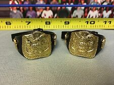 "WWE Wrestling Jakks Tag Team Championship Title Belts Lot of 2 for 6"" Figures"