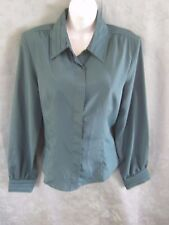Vintage Yves St. Clair Blouse Size 14 Pleated Collar & Cuffs Top